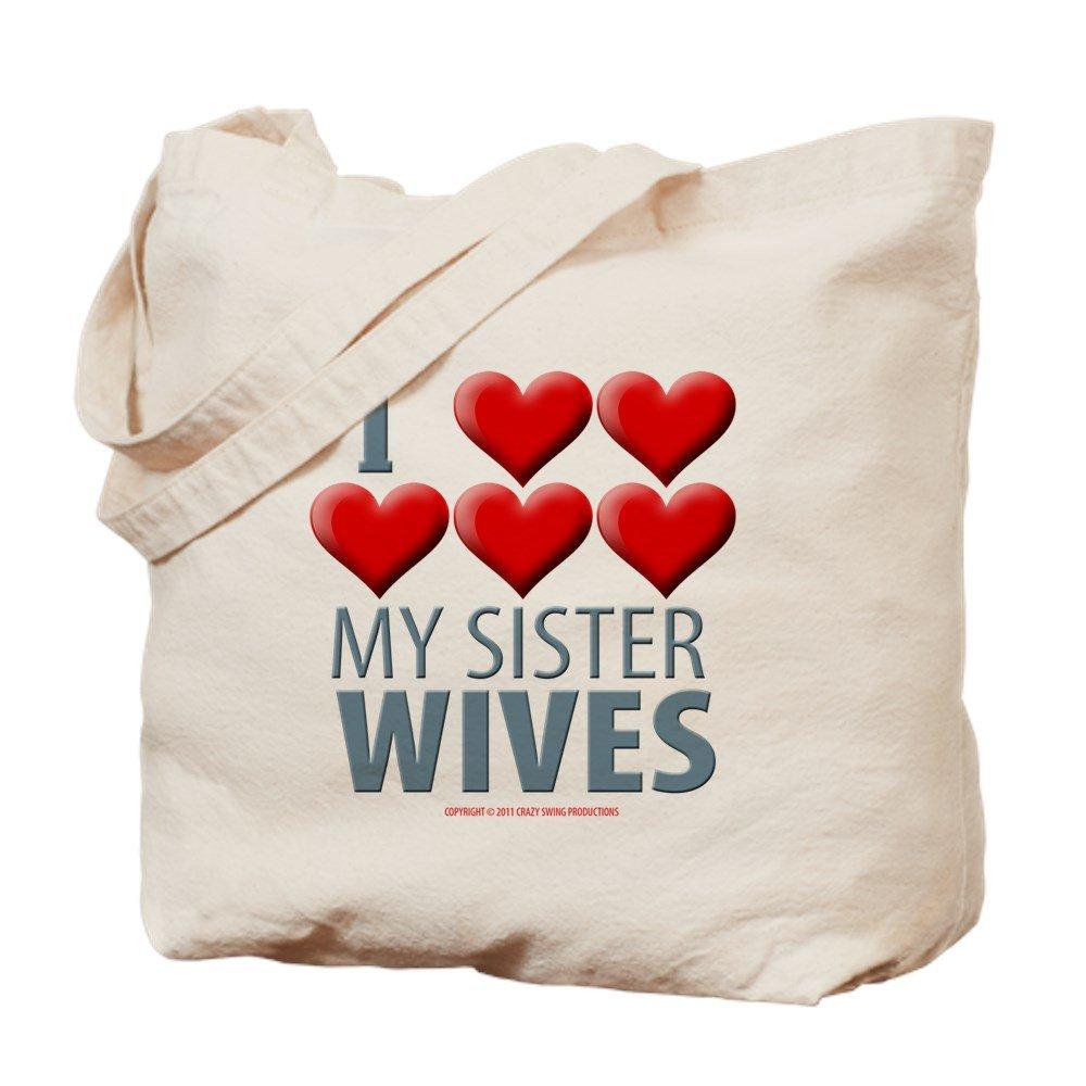 CafePress – Sister Wives – ナチュラルキャンバストートバッグ、布ショッピングバッグ B01LOCLLS2