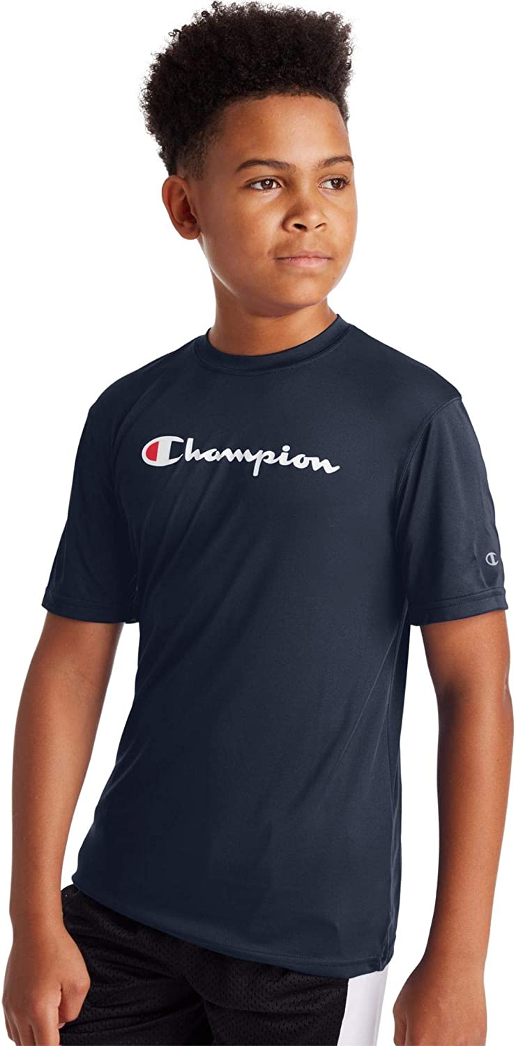 Champion Boys Graphic Double Dry Performance Short Sleeve Shirt