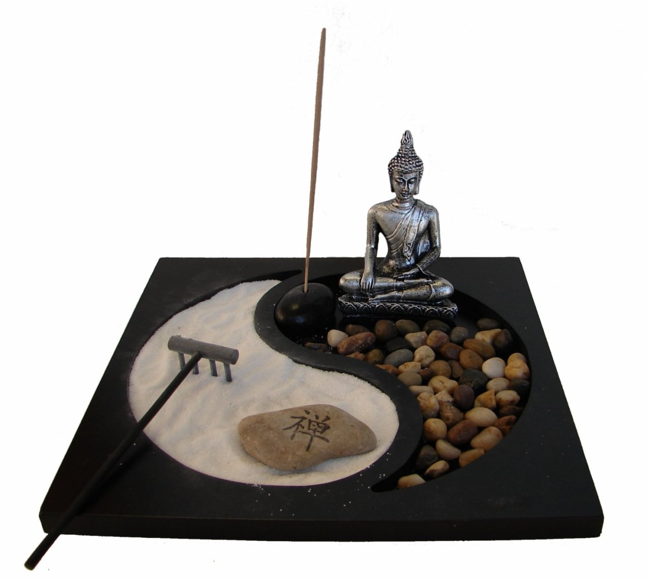 Feng Shui Import Desktop Zen Garden with Thai Buddha Statue