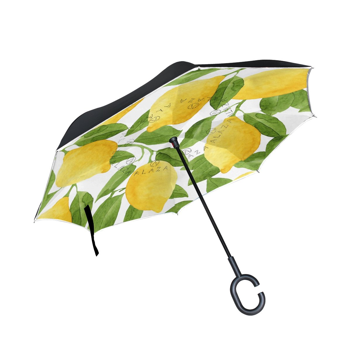 ALAZA Inverted Umbrella, Large Double Layer Outdoor Rain Sun Car Reversible Umbrella