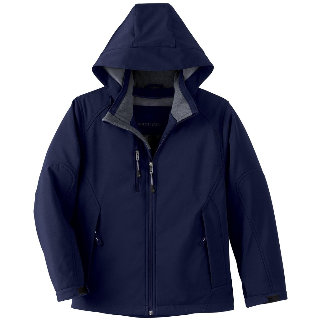 Ash City Glacier Youth Insulated Soft Shell Jacket (Large, Classic Navy)