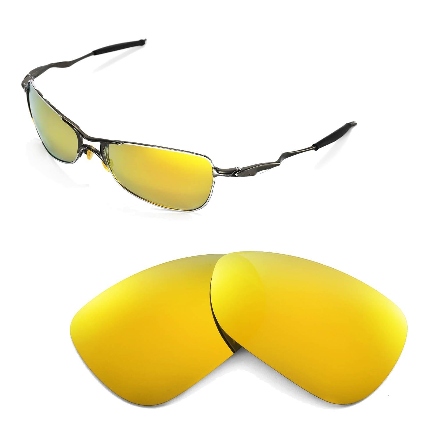 0f36dc16bb3 Walleva Replacement Lenses for Oakley Crosshair 1.0 (2005-2006 version)  Sunglasses - Multiple Options (24K Gold Mirror Coated - Polarized)   Amazon.co.uk  ...