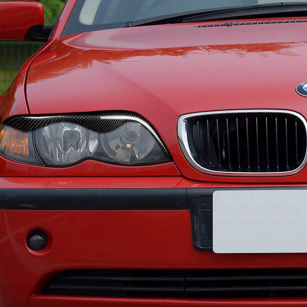 DIAMOEN 1 Sticker Cover in fibra di carbonio Coppia sopracciglia palpebra per BMW E46 323i 328i 330i 325i 1999-2004