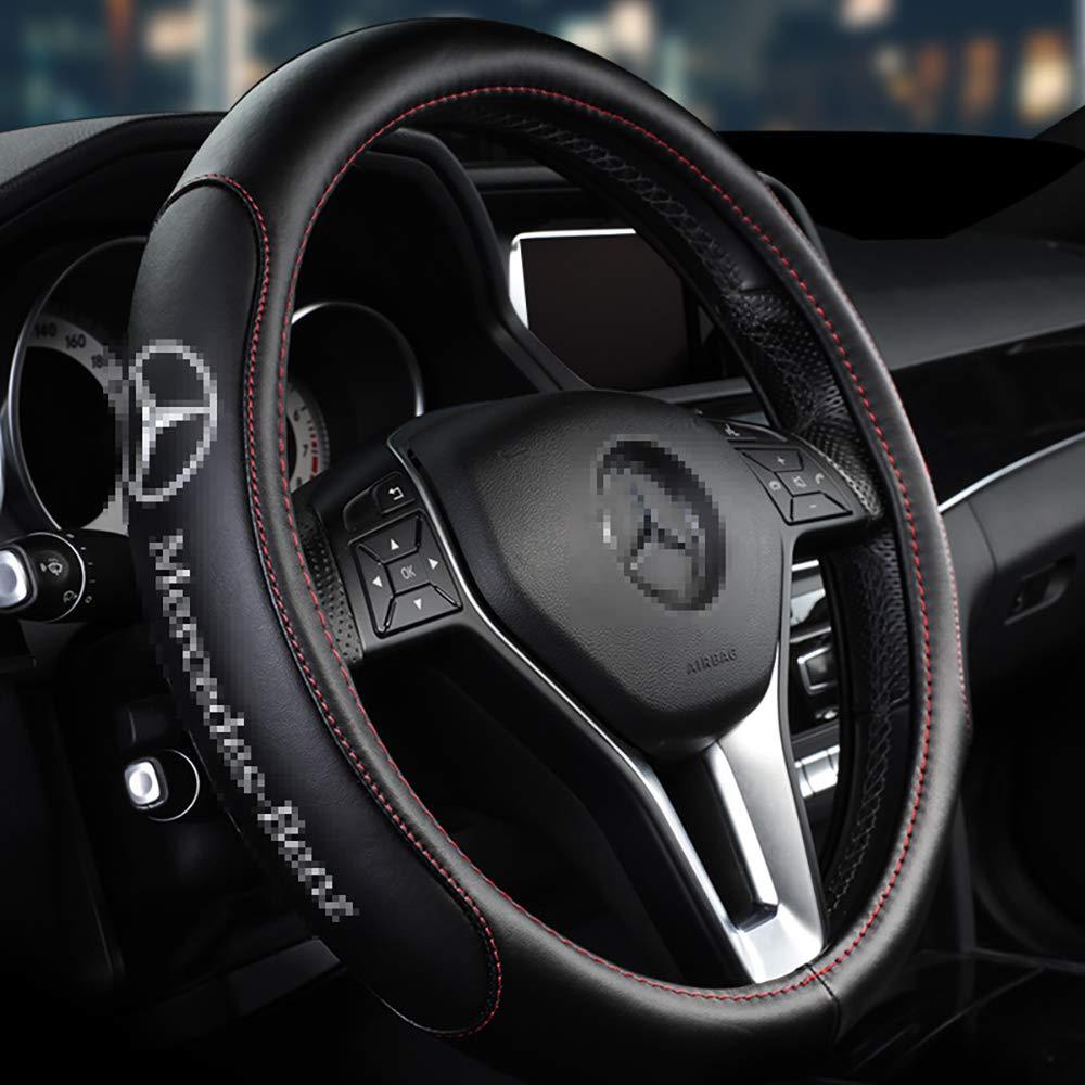 Cubierta del Volante del Autom/óvil clase B Clase c200le300lGLC-clase Clase GLC Clase GLE Mercedes-Benz Cubierta de Volante de Cuero,A
