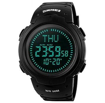 WATCH Marca los hombres relojes deportivos 5 ATM resistente al agua Digital al aire libre reloj