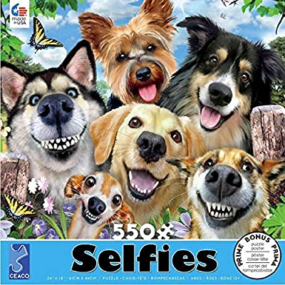 Selfies Dog Delight Puzzle - 550Piece: Toys & Games