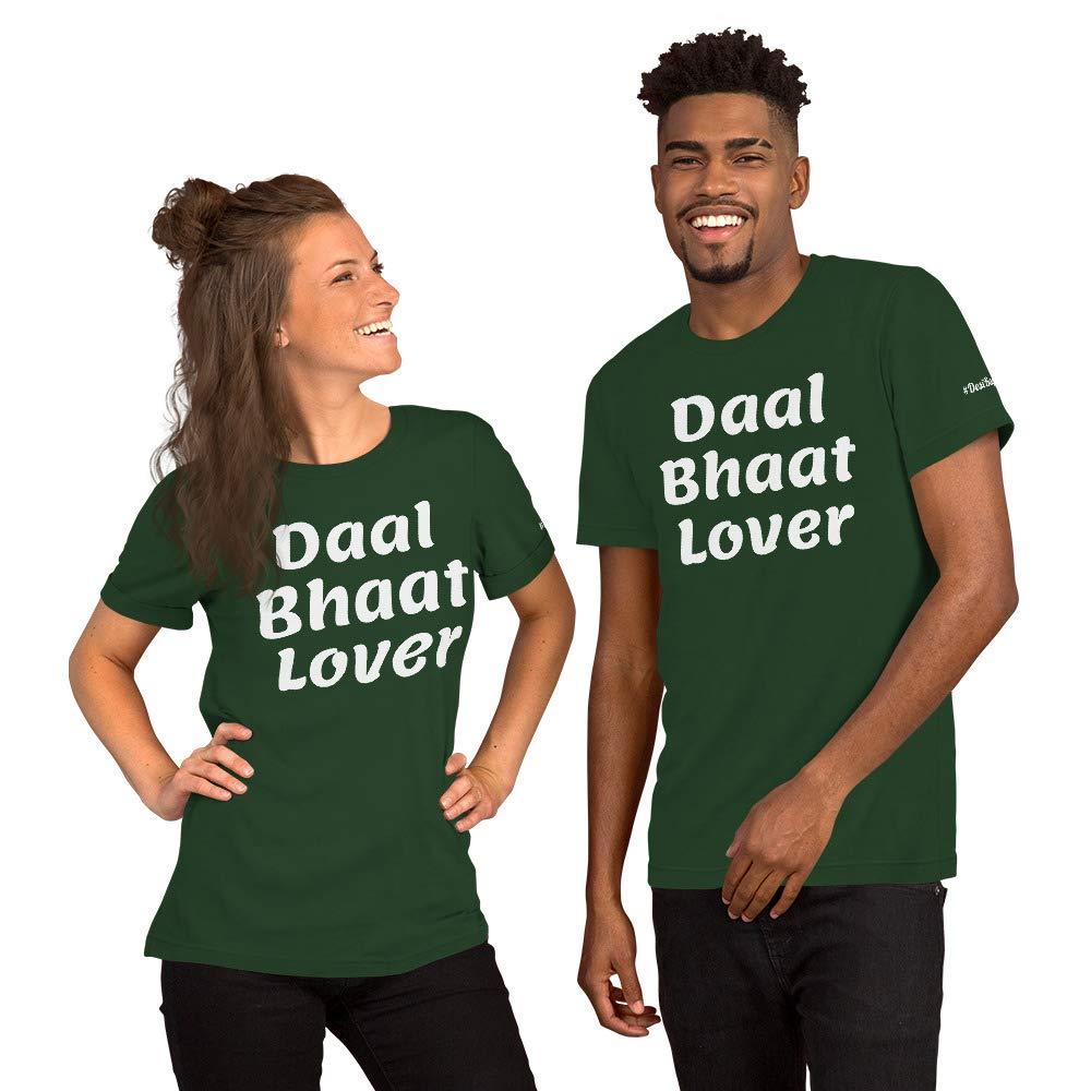 Guju Indian Funny Text T-Shirt Daal Bhaat Lover Guju4life Short-Sleeve Unisex T-Shirt Gujarati