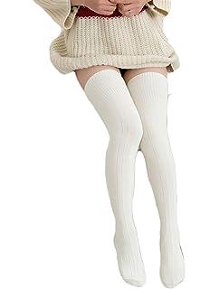 18b8a14a9581c ECHERY Frauen Mädchen Über Knie Socken Spitzen Top Fancy Kleid ...