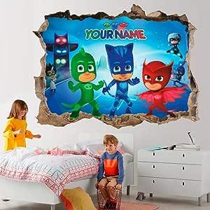 QULIN PJ mask 3d vinilos decorativos adhesivos de pared ...