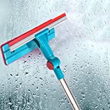 Glass Wiper Window Cleaner Cleaning Brush Long Handle Double Side Mirror, Ceramic Tile Wall, Bathroom Partition And Other Family Places