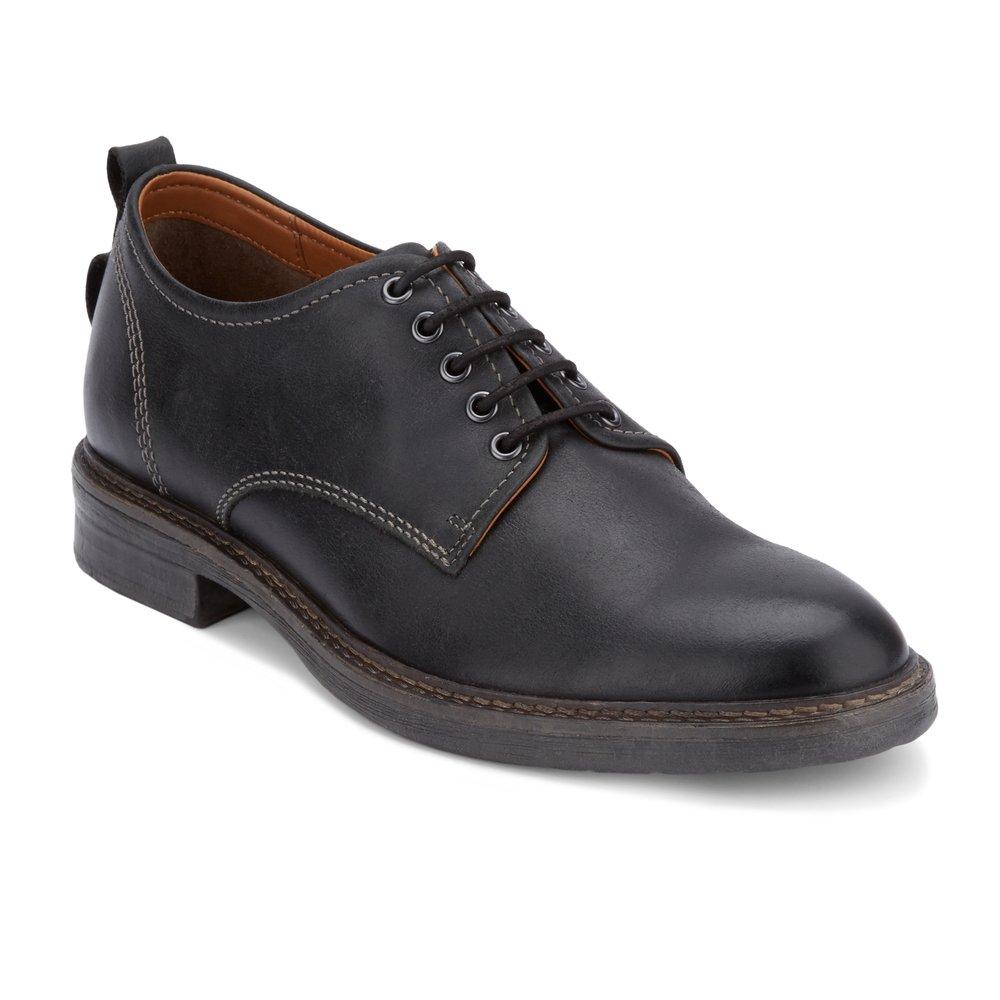 Lucky Brand Men's Hogan Oxford, Black Leather, 10 Medium US