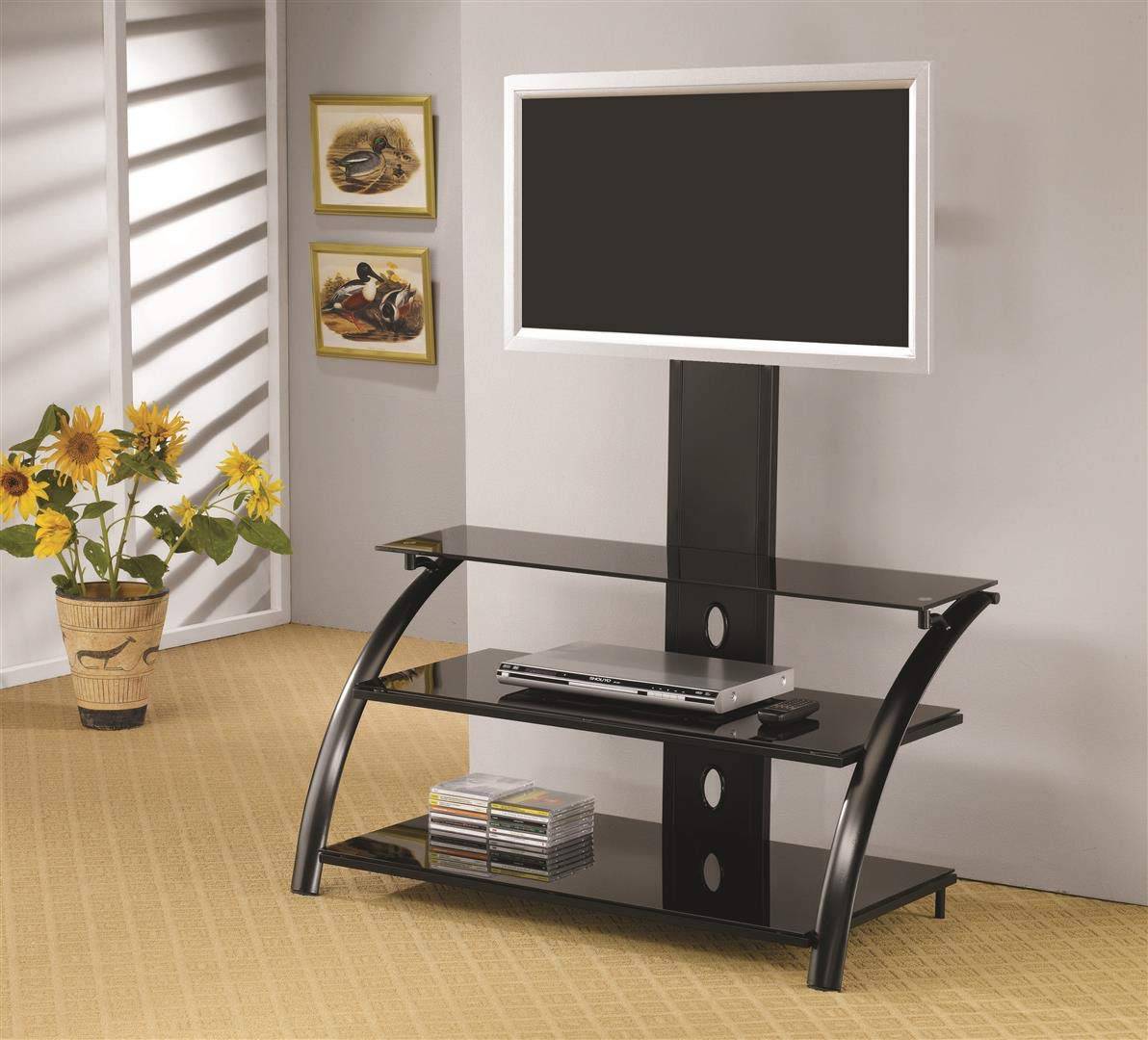 Coaster Home Furnishings TV Console with Bracket Black