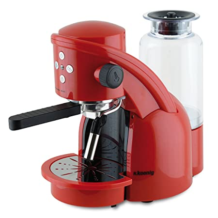 H.Koenig Red XPS15 Máquina de café Expresso, 1350W, 15 Bar, Color ...