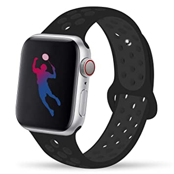 GIPENG para Correa Apple Watch 38MM 40MM 42MM 44MM, Suave Silicona iWatch Correa, para Series 5, Series 4, Series 3, Series 2, Series 1, Nike+, ...