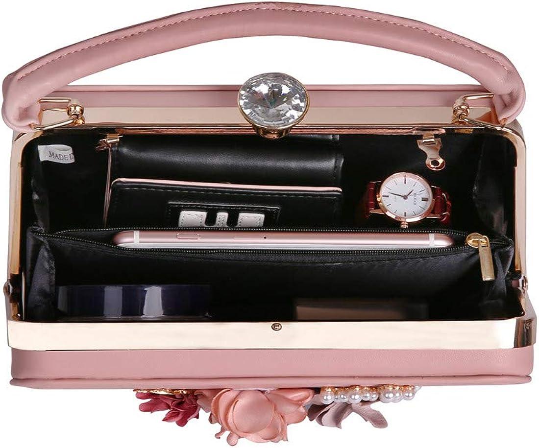 Women Flower Evening Clutch Bags Bridal Handbags for Prom Bride Wedding