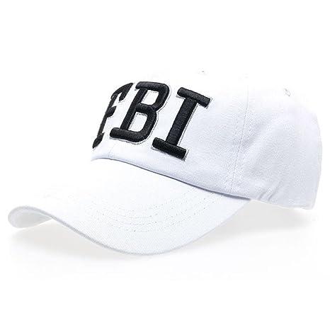 0d3ea1ca68e Amazon.com  TiTCool Womens Baseball Cap FBI Novelty Fun Embroidery Fashion  Sport Golf Ball Hat (Black)  Clothing
