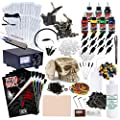 Rehab Ink Complete Tattoo Set w/ 2 Guns, Power Supply, 7 Millennium Mom's Ink Colors, Skull Ink Holder & More