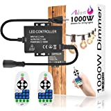 Adust 1000W 110V Light String Remote Plug-in Dimmer - AC 110V 1000W Outdoor String Lights Bulbs Switch, Wireless Remote…