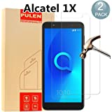 [2 Pack] Alcatel 1X Screen Protector, PULEN 0.3MM Slim And 9H Hardness Tempered Glass [Anti-Scratch] [Bubble Free]Extreme Hardness with Lifetime Replacement Warranty