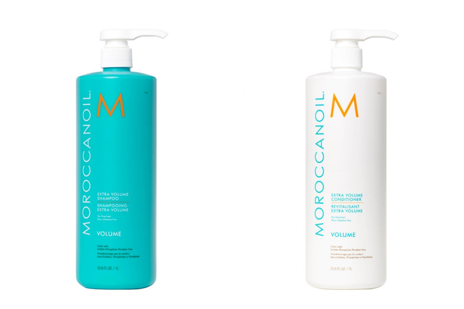 Moroccan Oil Extra Volume Shampoo and Conditioner 33.8oz Combo Set