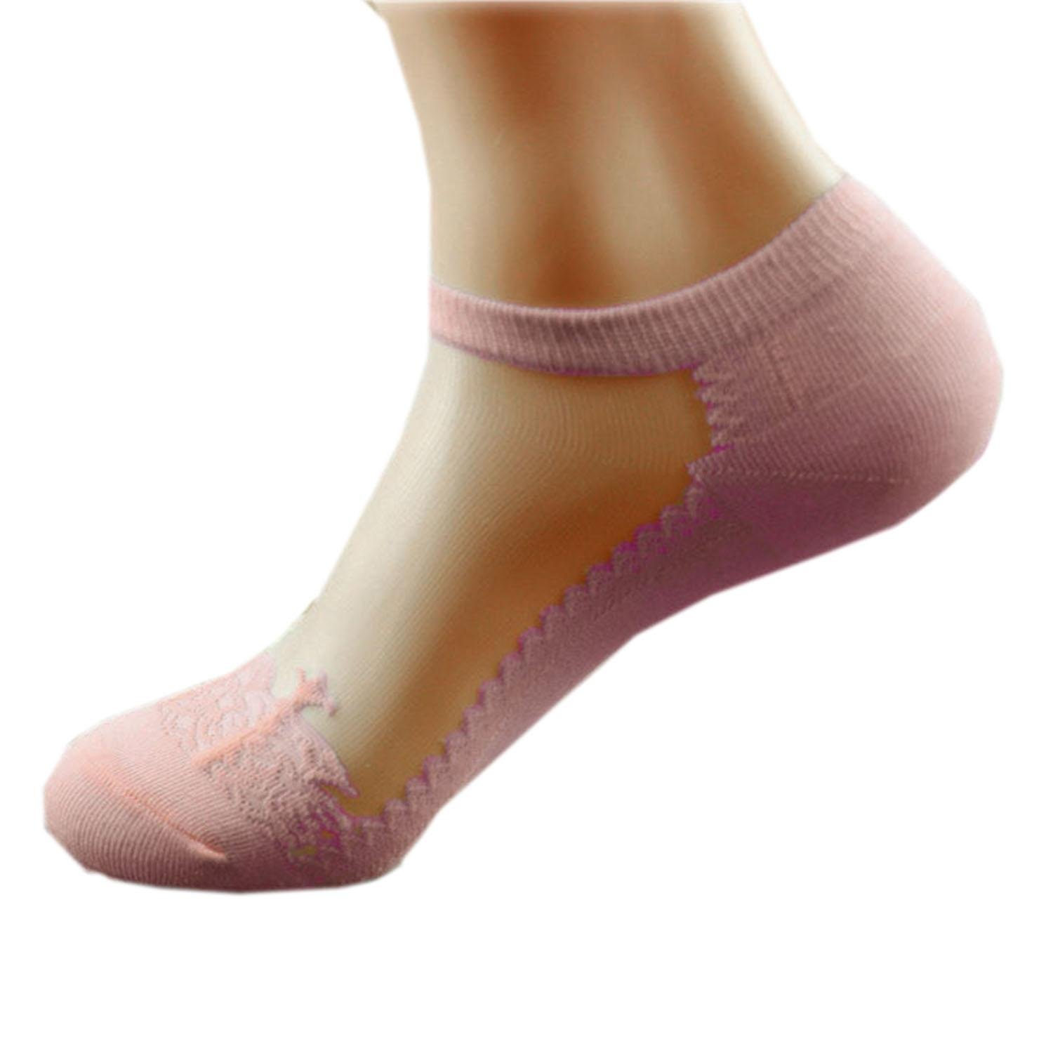 Evelove Cindere Women No Show Mesh Lace socks Invisible, t No Show & Liner Socks