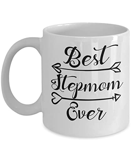 INunen Best Stepmom Ever Coffee Mug Tea Cup Funny Mothers Day Gift Birthday Ideas