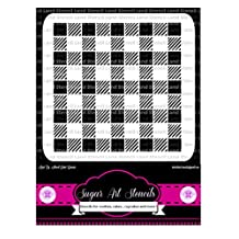 Cookie stencil buffalo small plaid lumberjack style cupcake designs for air brush - Royal icing