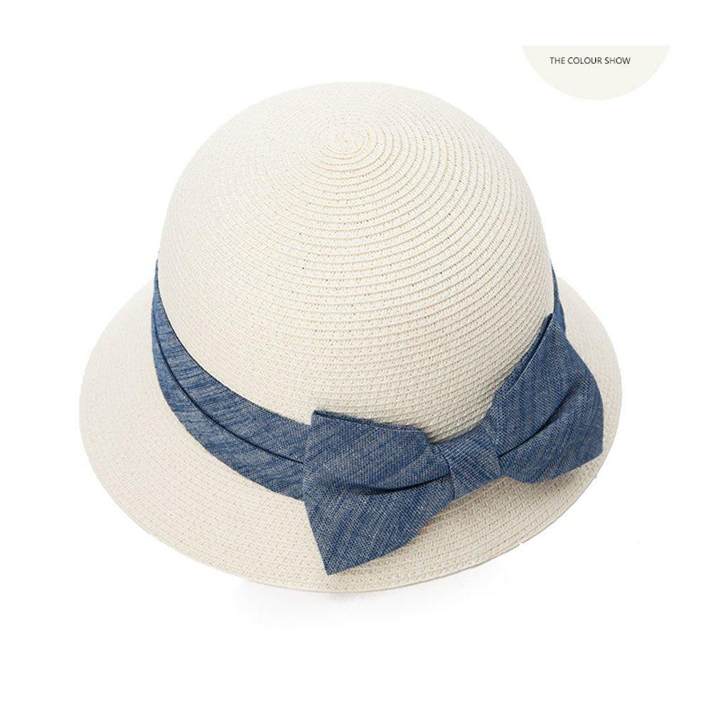 Blanc  GUO chapeau de paille femme été petit chapeau de plage fraîche anti-ultraviolet pliant pliant soleil chapeau soleil chapeau prougeection solaire UV pli pliant pliable capable réglable
