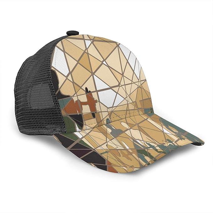 Gorra de béisbol Unisex para Hacer Ejercicio con Mosaico y Pesas ...