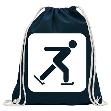 17bcbc6a86f77 Kiwistar Schlittschuhlaufen Piktogramme Turnbeutel Fun Rucksack Sport  Beutel Gymsack Baumwolle mit Ziehgurt