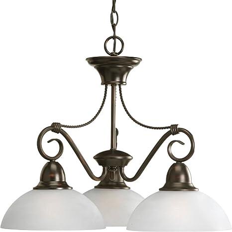 Amazon.com: Pavilion lineal Lámpara de araña en bronce ...