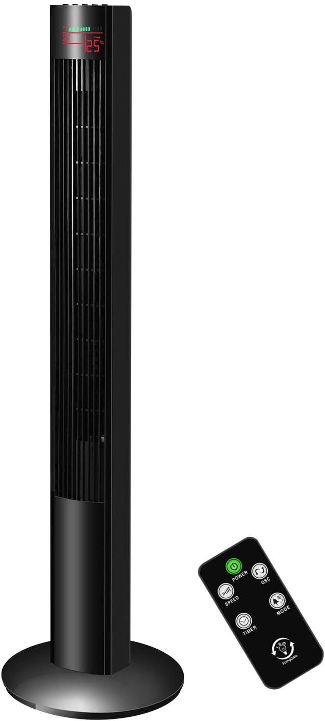 fam famgizmo - Ventilador de torre de 120 cm, potente y ...