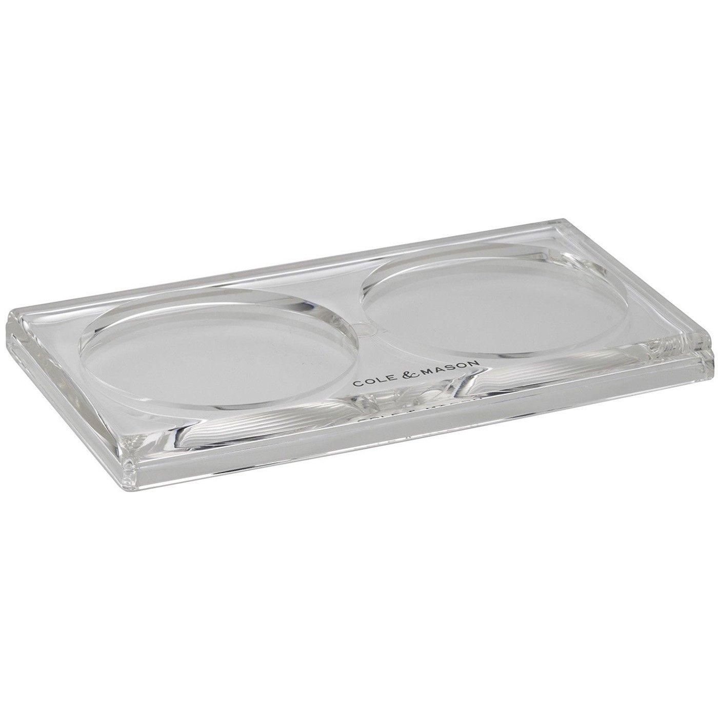 Cole & Mason Accessories Salt and Pepper Mill Tray, Acrylic, Clear, 17 x 9.6 x 0.8 cm DKB Household H306119