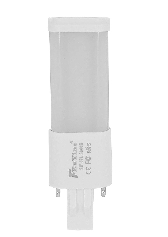 FExYinz GX23 LED電球 3ワット 温白色 3000K 300ルーメン Ra 80 PLランプ CFL LED コンパクト電球 GX23 LEDチューブライト 屋内照明用 B07Q6Z2KCL