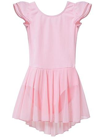 5d0187d25 Amazon.com  MdnMd Girls  Flutter Sleeve Skirted Leotard  Clothing