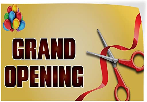 Decal Sticker Multiple Sizes Grand Opening #1 Style S Business Grand Opening Outdoor Store Sign Red Set of 5 34inx22in