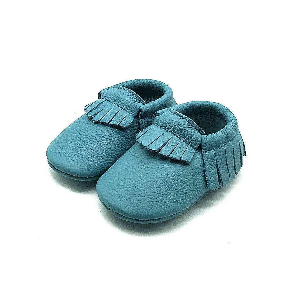 f2ff525ff46f ... Owlowla Baby Moccasins Leather Soft Sole Newborn Crib Shoes for Boys  and Girls ...