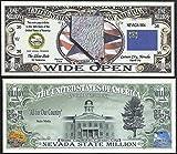 Nevada State Educational Million Dollar Bill W Map, Seal, Flag, Capitol - Lot of 100 Bills
