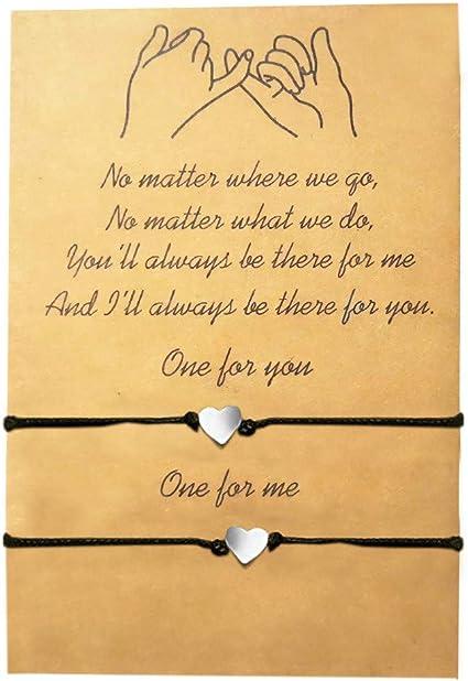 Stocking Stuffer In My Heart Long Distance Friendship Wish Bracelet