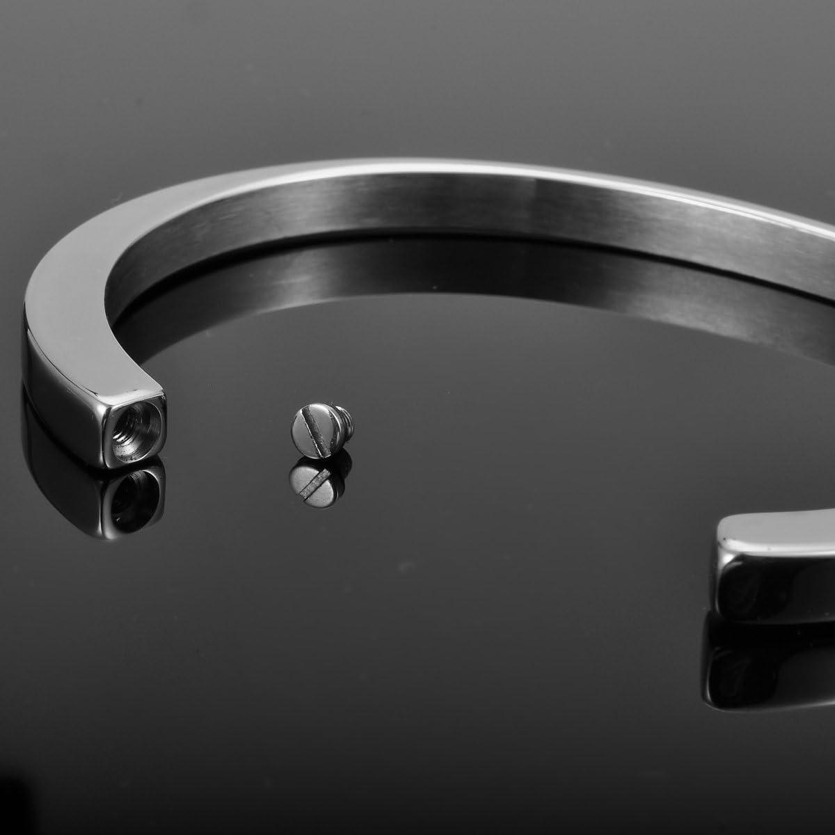 "Sterling Silver Oxidised Grooved Box Bracelet 20cm//8/"""