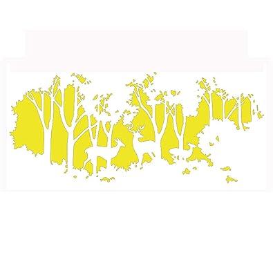 Muursticker Home Sweet Home.Amazon Com Meilidongren Woods Deer World Map Wall Sticker