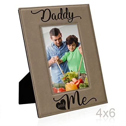 kate posh daddy and me engraved leather picture frame first 1st fathers day