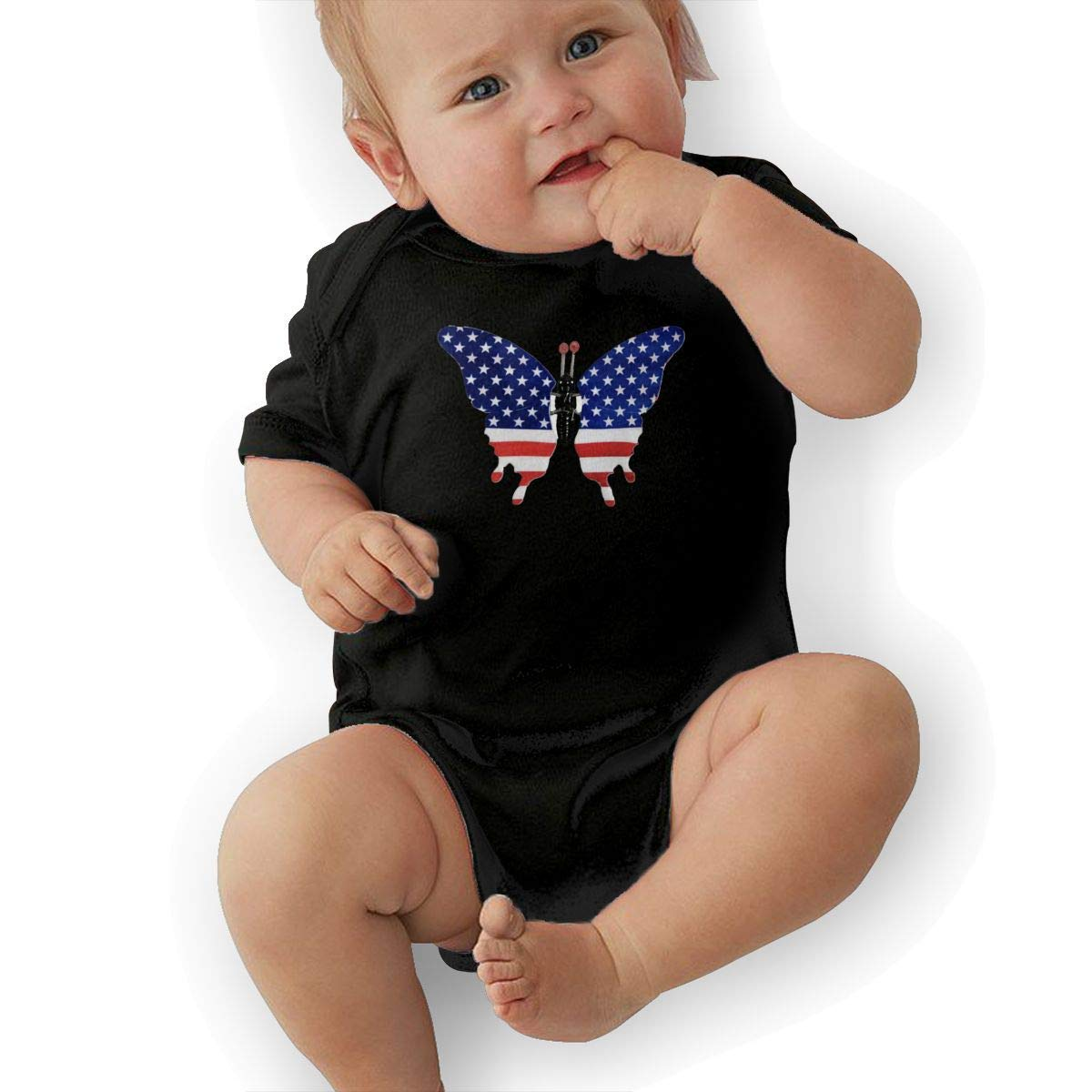 American Flag Butterfly Baby Onesies Toddler Baby Girl//Boy Unisex Clothes Romper Jumpsuit Bodysuit One Piece