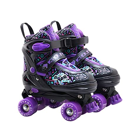 Amazon.com: CHHBOXCHH Adjustable Skates with Wheels for Boys ...