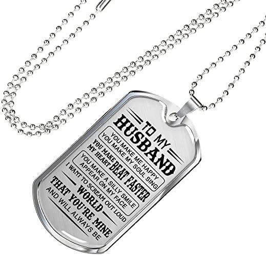 az family gift love quotes for boyfriend dog tag necklace