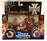 Muscle Machines West Coast Choppers Jesse James Cherry CFL 1:18 Scale Die Cast Motorcycle