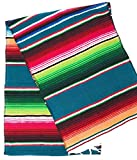 Mexitems Mexican Serape Table Runner 84''x14'' (Teal)