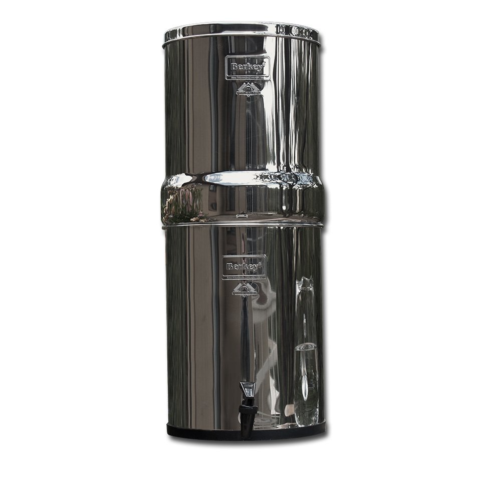 Berkey IMP6X4-BB Imperial Stainless Steel Water Filtration System with 4 Black Filter Elements