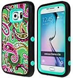 S6 Case, Galaxy S6 Case, SGM (TM) Hybrid Dual Layer Protection High Impact Armor Defender Case For Samsung Galaxy S6