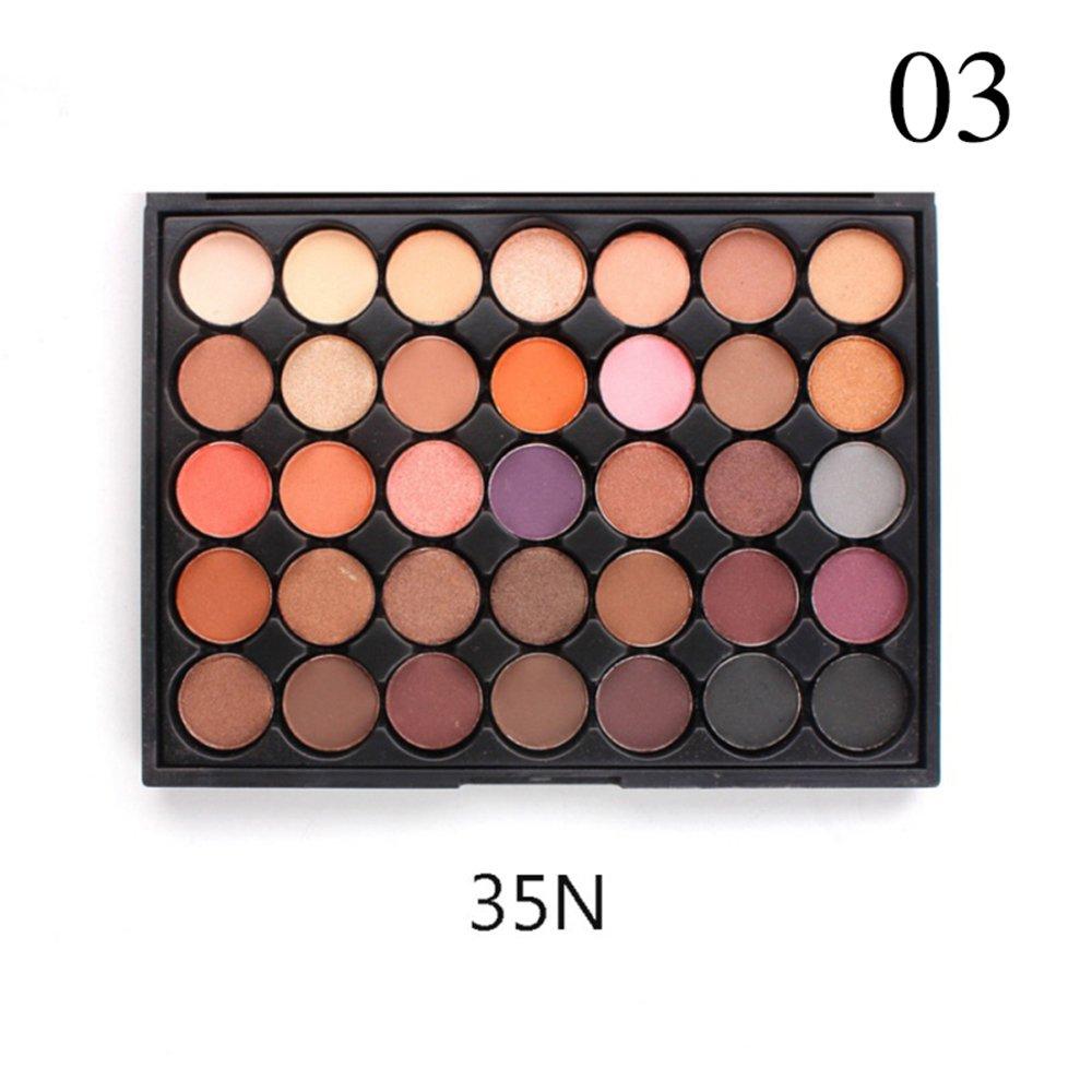 c4e2354b3585 Amazon.com : Binglinghua 35 Colors Cosmetic Powder Eyeshadow Eye ...